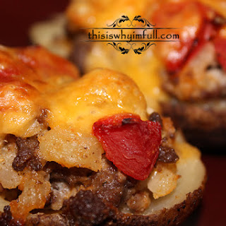 Cheeseburger Twice Baked Potatoes.