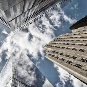 symmetry by Anita Meis - Buildings & Architecture Architectural Detail ( wtc, tall buildings, manhattan, new york, one world trade center, freedom tower )