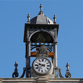 A Clock at the Top by Joatan Berbel - Buildings & Architecture Architectural Detail ( spain, granada, city, andalucia, architectural detail, artistic object, style, building, architecture )