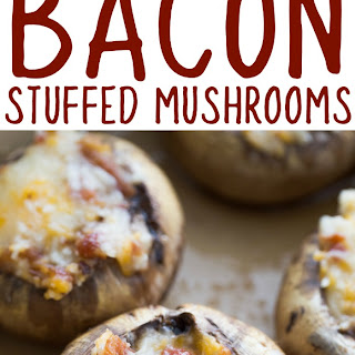 Cheesy Bacon Stuffed Mushrooms Recipe – How to make the best stuffed mushrooms appetizer ever!.