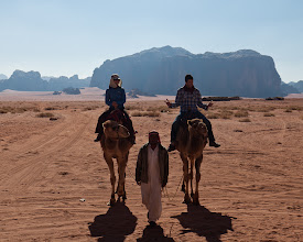 Photo: Excited to ride camels