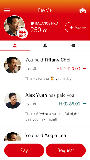 Screenshot for PayMe from HSBC in Hong Kong Play Store