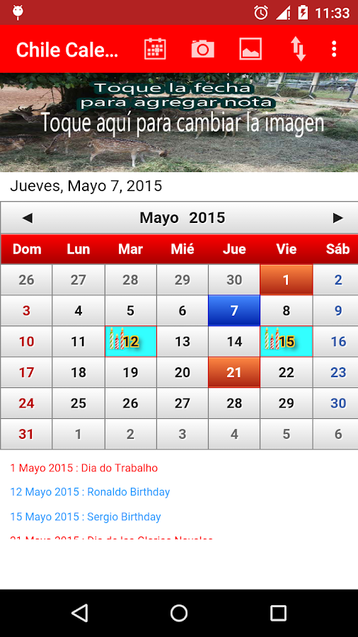 Chile Calendario 2015 - screenshot