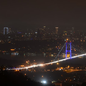 Istanbul  by Molnar Csilla - Buildings & Architecture Bridges & Suspended Structures ( cityscapes, night photography, city lights, bridge, istanbul,  )