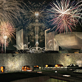 Empire State Plaza by Ruth Sano - Public Holidays July 4th ( albany, fireworks, 4th of july, new york, architecture,  )
