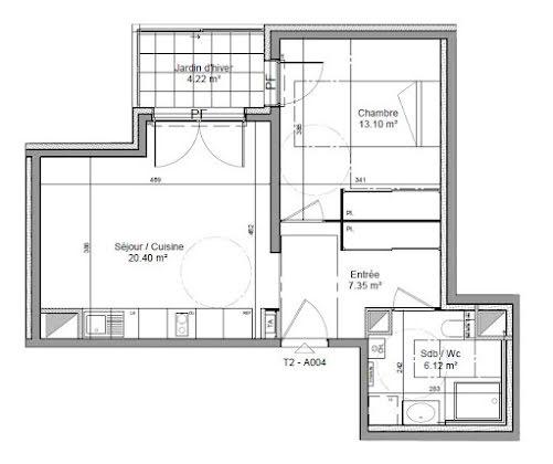 Vente appartement 2 pièces 46,97 m2