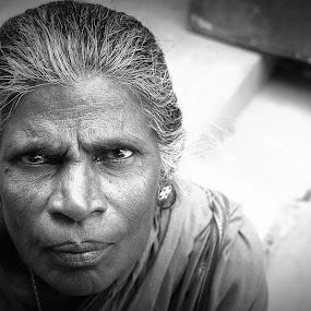 Strong Lady by Saravanan Veeriah - People Portraits of Women ( old lady, strong, strong lady., lady, women, portrait )
