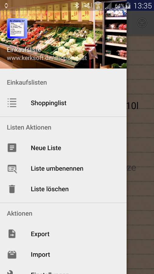 Shoppinglist- screenshot