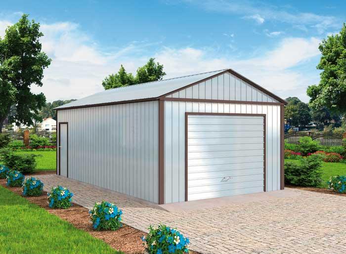 Projekt Garażu Gb48 Garaż Blaszany Jednostanowiskowy Z