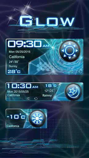 Glow GO Weather Widget Theme