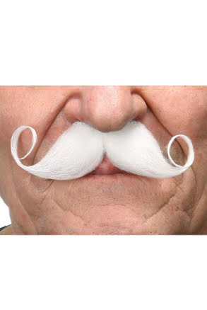 Mustasch Poirot, vit