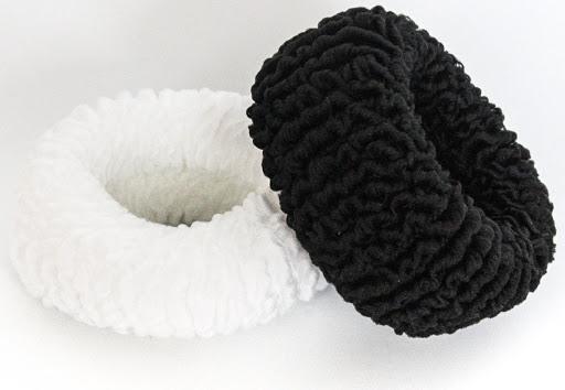 accesorio delta colita grande blanco y negro 2 unds