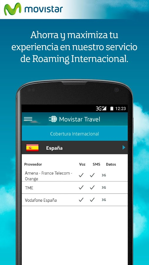 Movistar Travel: captura de pantalla