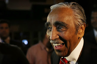 Photo: NEW YORK, NY - JUNE 26:  Congressman Charles Rangel arrives to supporters at his campaign headquarters after polls have closed in his race for the Democratic primary challenge in New York's 15th congressional district on June 26, 2012 in New York City. After a more than four-decades-long congressional career, Rangel fought for the Democratic nomination in a newly re-drawn congressional district that is no longer dominated by African Americans. The 82-year-old Rangel was locked in a race Tuesday for the nomination in his Harlem-area district with New York state Sen. Adriano Espaillat. Espaillat, a 57-year-old Dominican-American, has shown growing popularity in a district that now has more Latino-Americans than African-Americans.  (Photo by Spencer Platt/Getty Images)