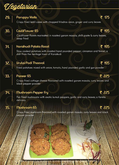 Coastal Reef menu 5
