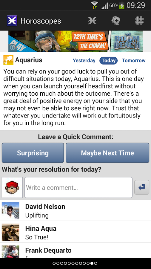 Horoscopes for Facebook- screenshot