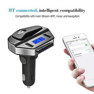Kit modulator MP3 + Handsfree cu casca bluetooth V4.2+ EDR