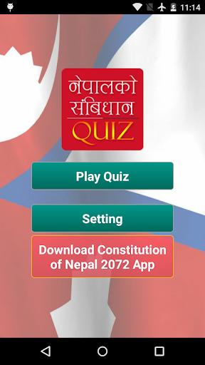 Constitution of Nepal Quiz