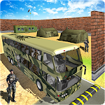 Army Bus Driver Transport Soldiers Icon