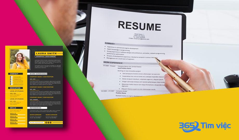 Ứng dụng tạo CV online của timviec365.vn