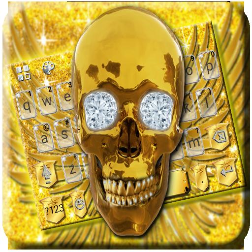 Golden Skull Keyboard Theme Icon