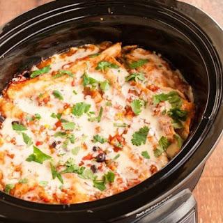 Slow Cooker Enchilada Stack.