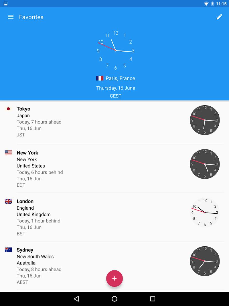 World Clock by timeanddate.com Screenshot 7