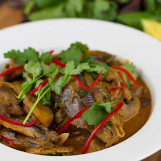 Thai Eggplant Mushroom Curry.