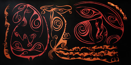 Photo: Losing Sight of Perspective 26 - 42 x 82 inch - Pen & Ink on paper