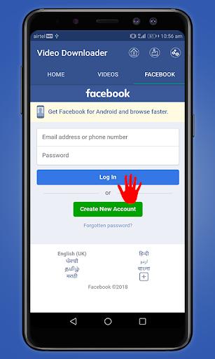 Video Downloader For Facebook Video Downloader App 1.1 screenshots 1