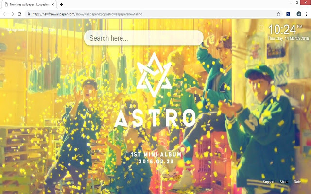 Kpop Astro wallpapers new tab HD