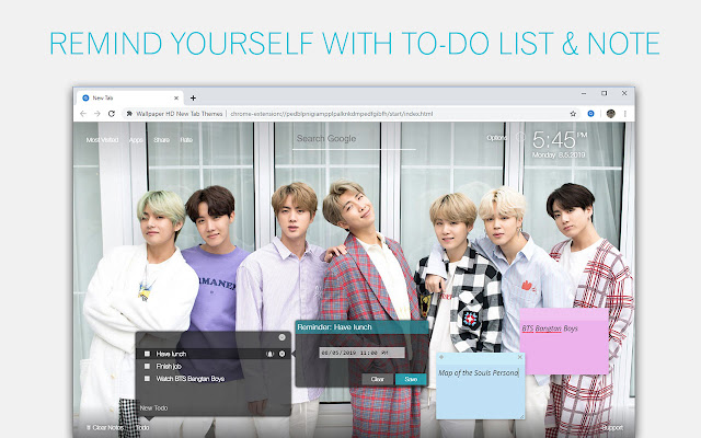 Bts Bangtan Boys Wallpapers Custom New Tab