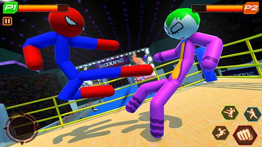 Stickman Wrestling: Stickman Fighting Game android2mod screenshots 3