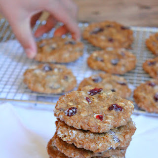 Maple Cranberry Oatmeal Cookies