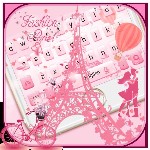 Romantic Pink Paris Keyboard
