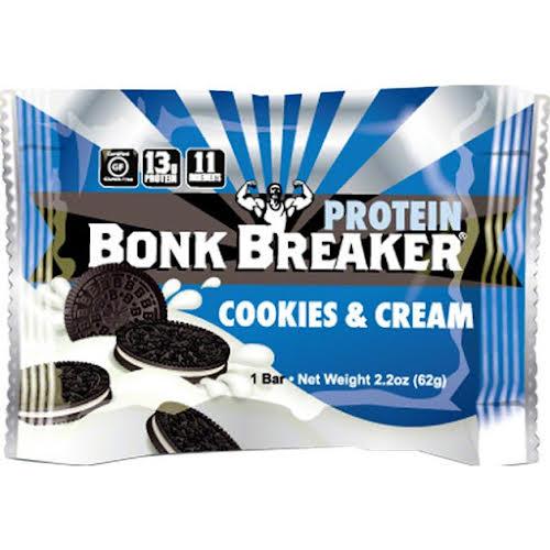 Bonk Breaker High Protein Energy Bar: Cookies and Cream, Box of 12