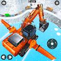Flying Car Excavator Simulator icon