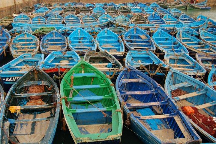 Il riposo delle barche di Essaouira di perbach
