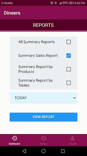 Dineers Admin - F & B Order Management Admin App screenshot 1