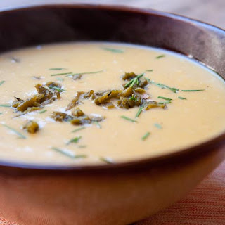 Green Chile Cream of Potato Soup