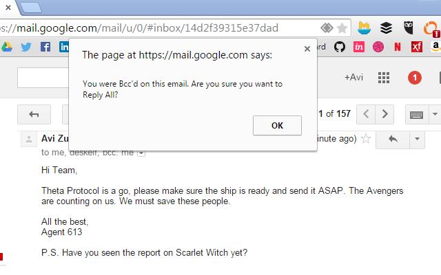 Email Oops Blocker