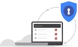 「データ漏洩のリスクを軽減する」のロゴ