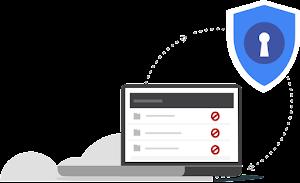 Logotipo da diminuição dos riscos de exfiltração de dados