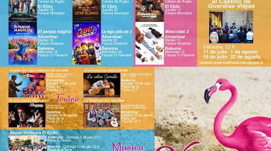 Así es la programación de 'Verano Cultural El Ejido': al aire libre y gratuita