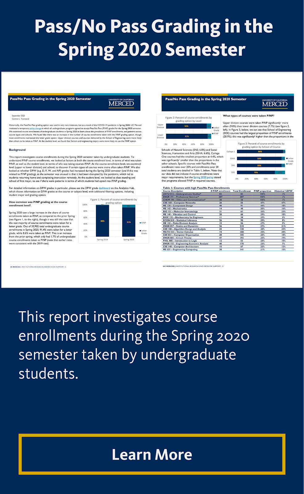 Pass/No Pass Grading in the Spring 2020 Semester
