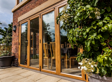 Wooden Bi Folding Patio Door