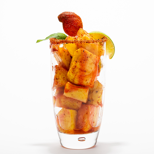 Pineapple Fruta Picada (Chopped Pineapples + Chili-Mango Lollipop)