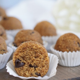 Healthy Chocolate Chip Peanut Butter Cookie Dough Treats.