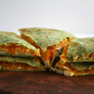 Roasted Butternut Squash and Garlic Vegan Quesadilla