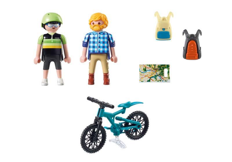 Contenido real de Playmobil® 9129 Ciclista y Excursionista
